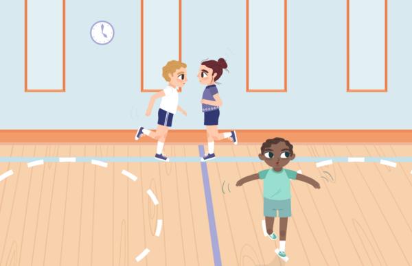 Fanngeleg på stregerne i idræt - Undervisning